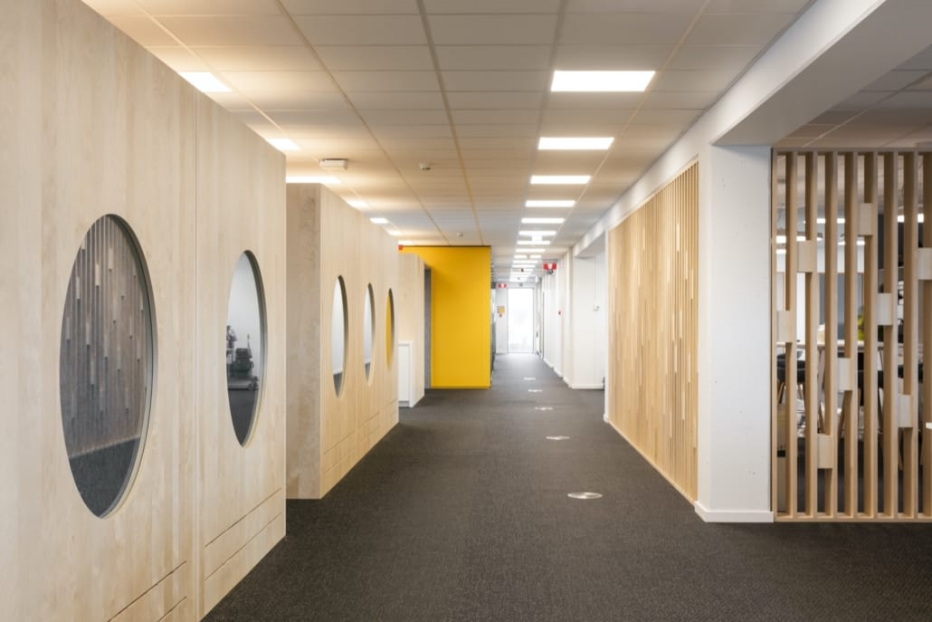 Acoustic silent pods for perfect acoustics in the Volvo Trucks Ghent office
