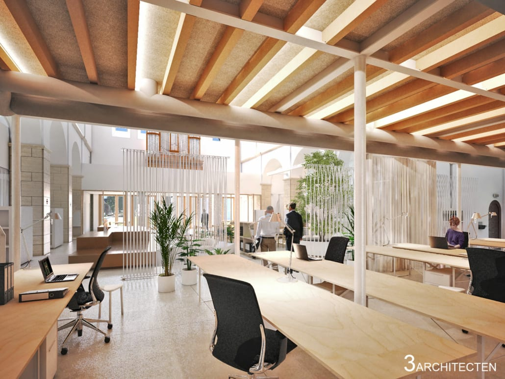 Render acoustic office environment Sint-Jozefskerk