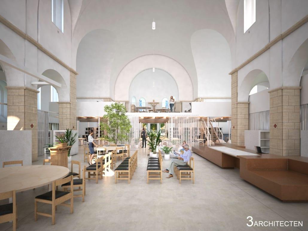 Render entrance renovation Sint-Jozefskerk