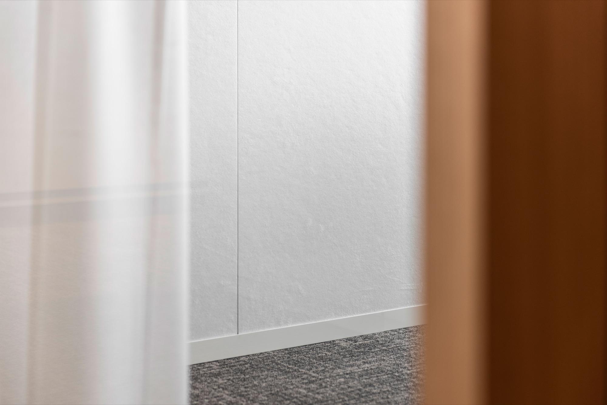 Detail acoustic frost PETAC® wall DLPA Kortrijk