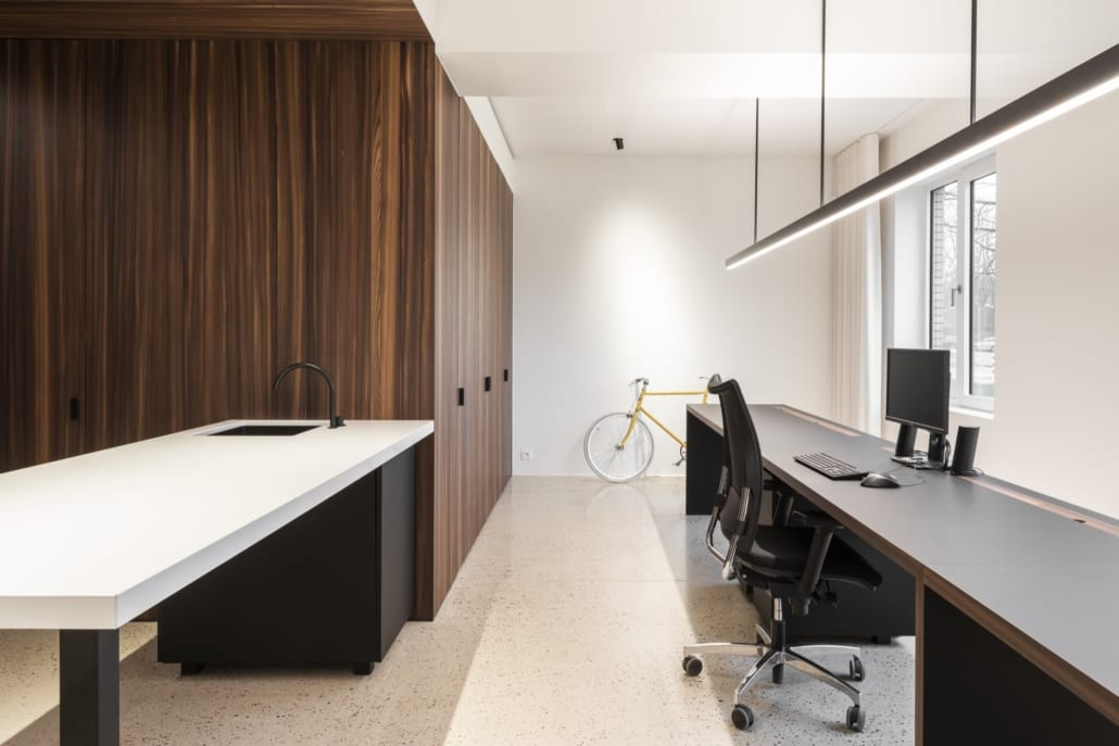 A sleek, modern and acoustic working environment