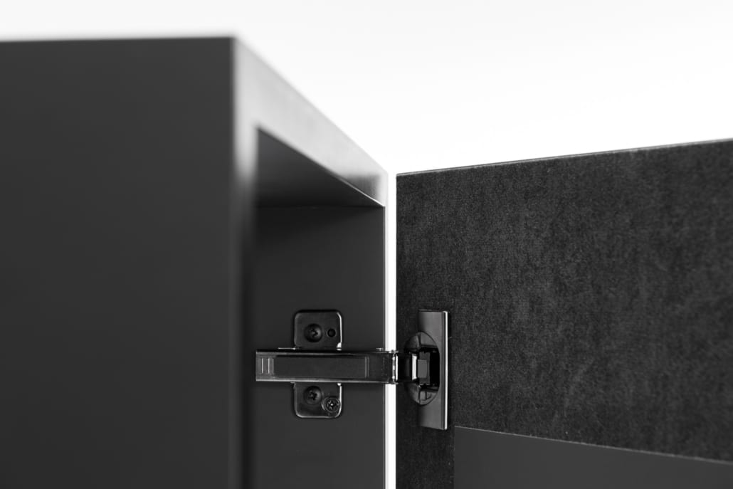 Detail hinge cabinet with acoustic covering