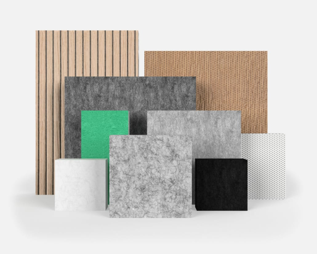 Finishing options of PETAC® acoustic panels