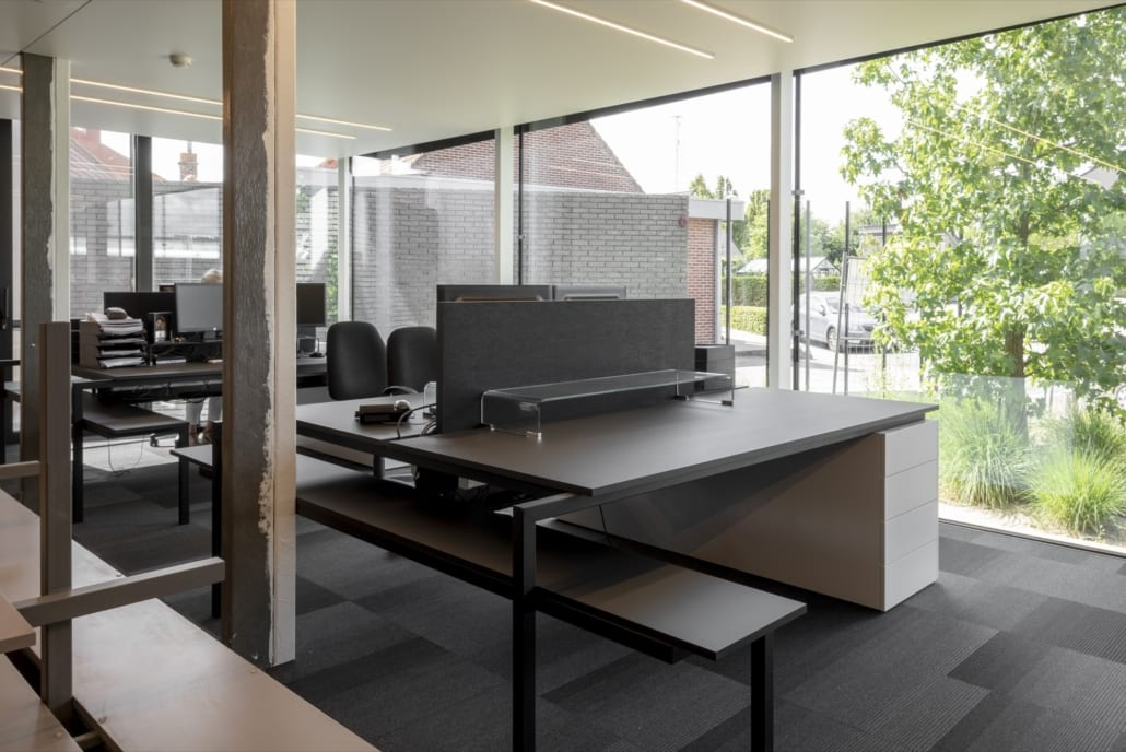Acoustic desk dividers for Adfisc from Rumbeke