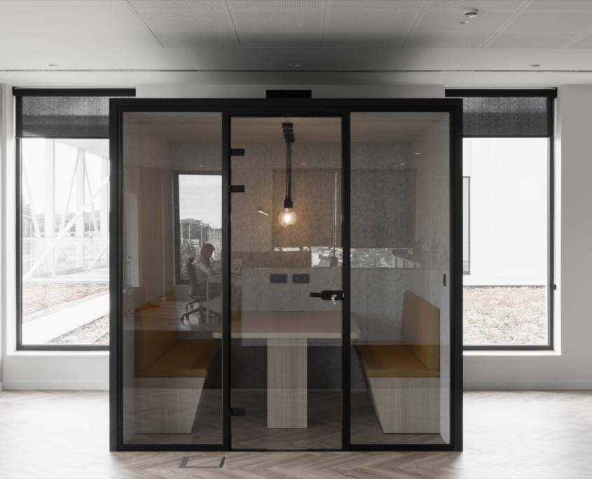 Acoustic silent pod as a conference room